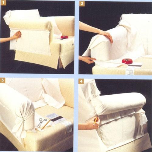 Накидка на диван своими руками пошаговая инструкция