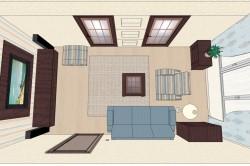 Симметричный способ расстановки мебели