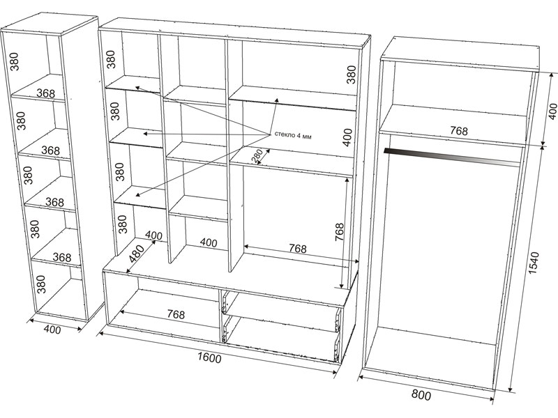 Корпусная мебель своими руками схемы и чертежи