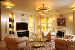 Дизайн интерьера зала в классическом стиле
