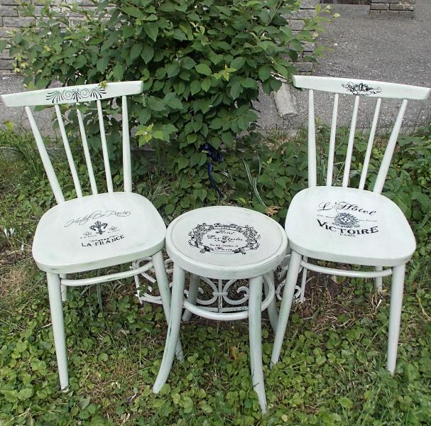 Декорирование деревянных стульев своими руками 12