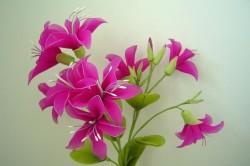 Крепление капроновых цветов
