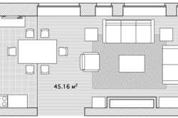 План кухни-гостиной