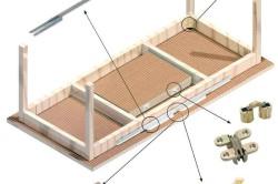Схема крепления направляющих раздвижного стола