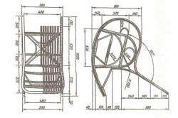 Схема кресла-качалки своими руками