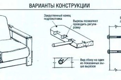 Варианты конструкции раскладного кресла
