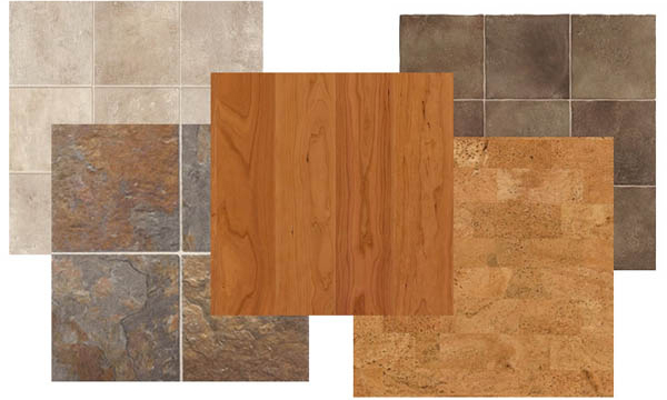 Types of tile floors
