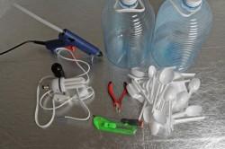 Инструменты и материалы для создания светильника в виде розы