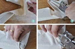 Этапы крепления обивочной ткани к каркасу кресла