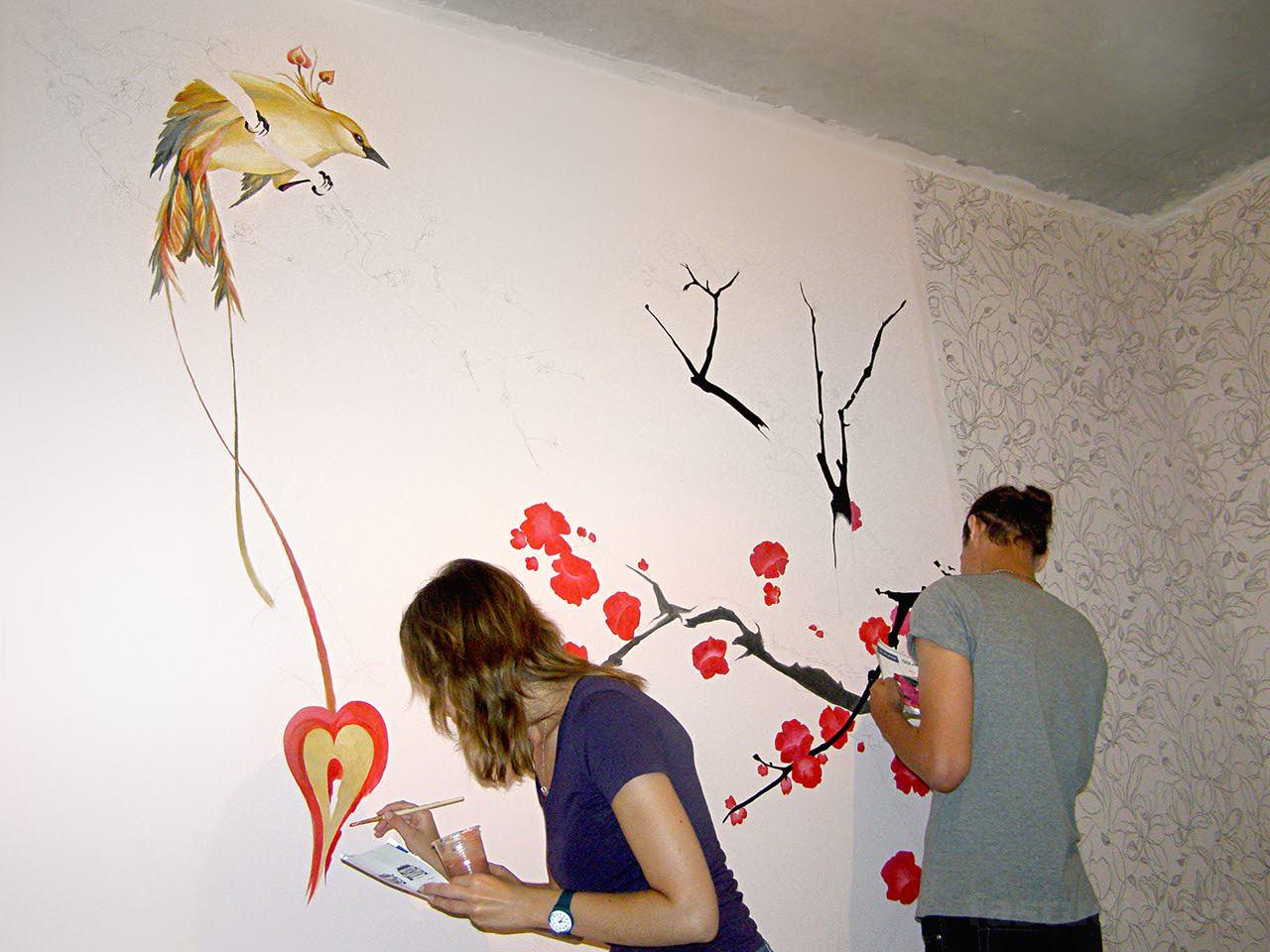 Рисунок на стене своим рук 559