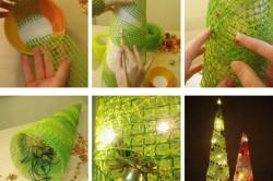 Процесс создания новогоднего светильника