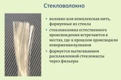 Характеристики стекловолокна