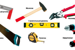 Инструменты для изготовления стола из досок