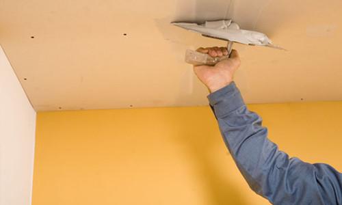 Подготовка потолка до окрашивания