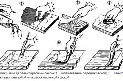Этапы лакировки и окраски деревянного компьютерного стола