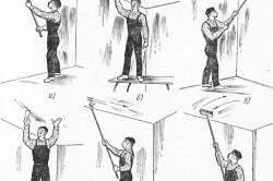 Последовательность подготовки потолка к покраске