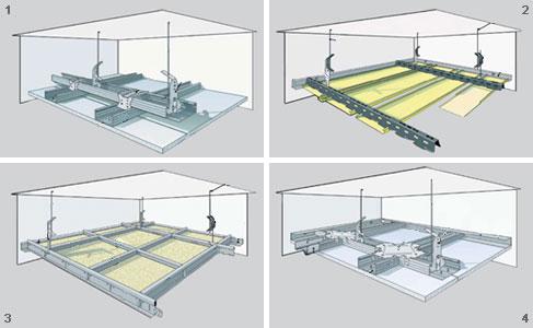 Схема монтажа первого уровня