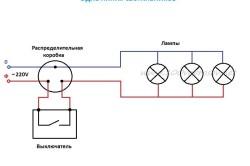 Эллектрическая схема подключения точечных светильников