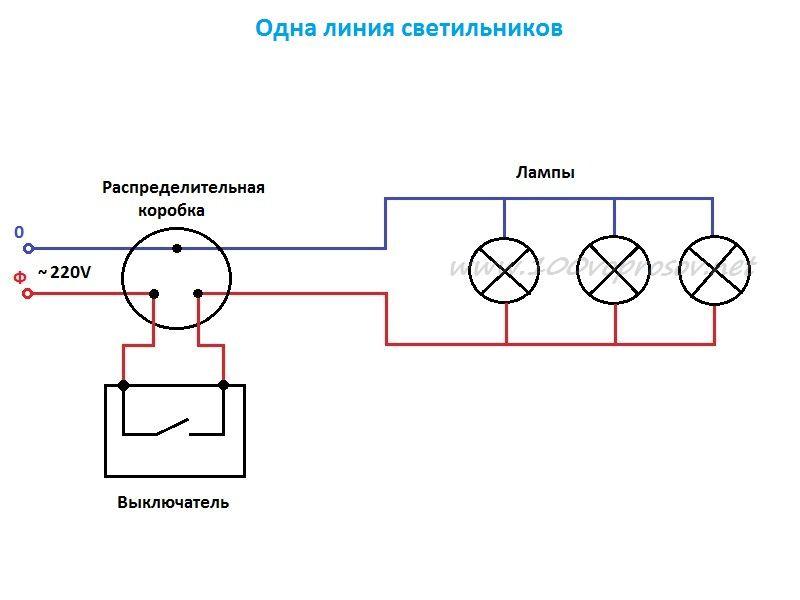 схема подключения точечных