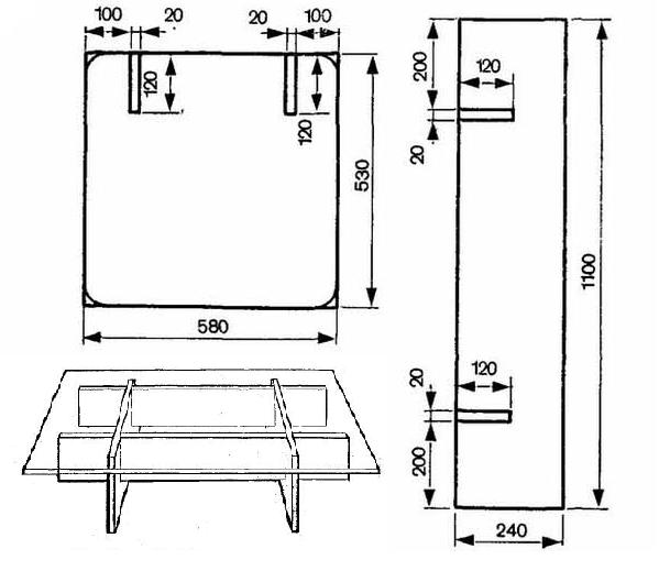 Схема сборки опоры из фанеры