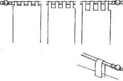 Схема широких тканевых петель