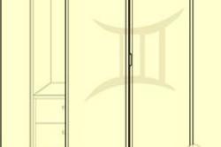 Схема складной двери из двух элементов