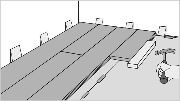 Схема укладки ламината вдоль