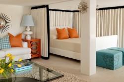 Интерьер гостиной-спальни