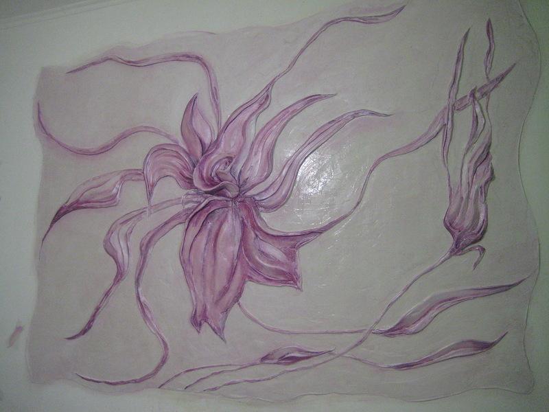 Барельеф на стене для начинающих цветы видео