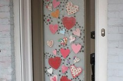 Декорирование двери тканью