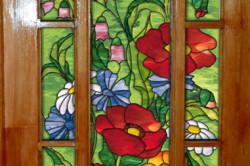 Декорирование дверного стекла
