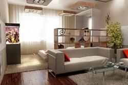 Дизайн объединенной спальни и гостиной