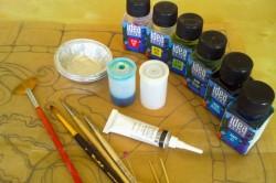 Инструменты для художественной росписи дверей