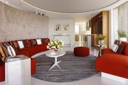 Круговое расположение мебели
