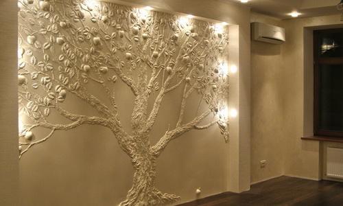 Пример решения лепнины на стене