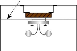Схема конструкции для монтажа люстры