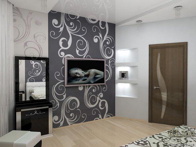 Комбинирование обоев в комнате фото
