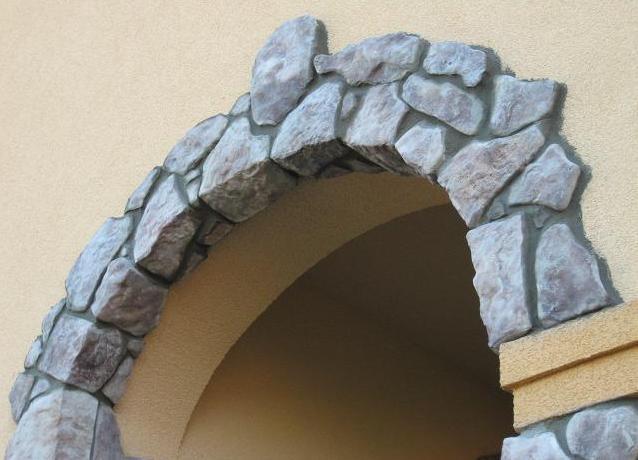 Как сделать арку камнем