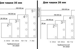 Варианты размеров дверных петель