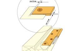 Схема максимальных зазоров при установке петель