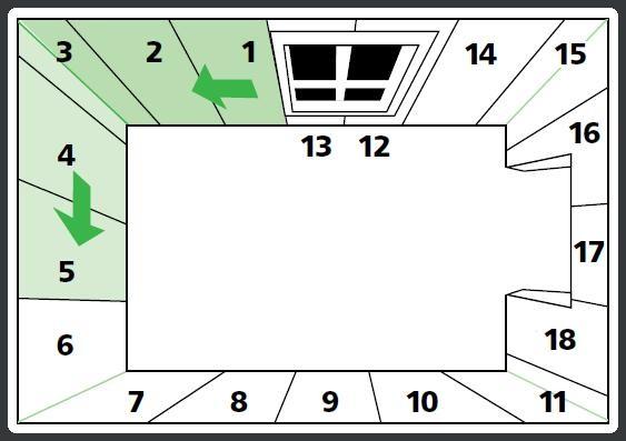 Схема поклейки обоями от окна