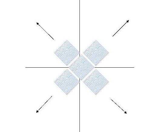 Клеим плитку по диагонали своими руками