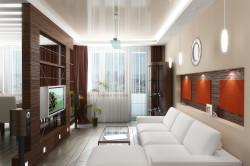Потолок в гостиной