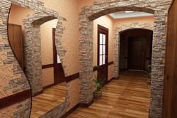Использование искусственного камня в отделке дверных проемов