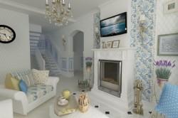 Дизайн прованс в гостиной