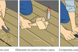 Процесс устранения скрипа на деревянном полу
