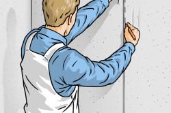 Схема разметки стены