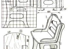 Чертеж складного стула из фанеры