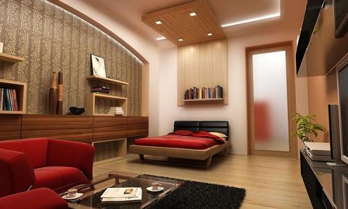 Зонирование гостиной-спальни в хрущевке без перегородок