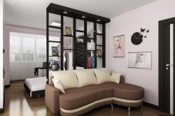 Стеллаж для разделения комнаты
